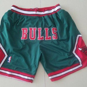 New NBA Just Don Chicago Bulls Basketball Shorts4